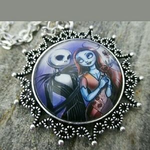 Jack and Sally Necklace Nightmare Before Christmas